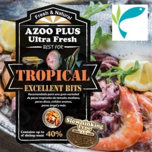 alimento granulado para peces